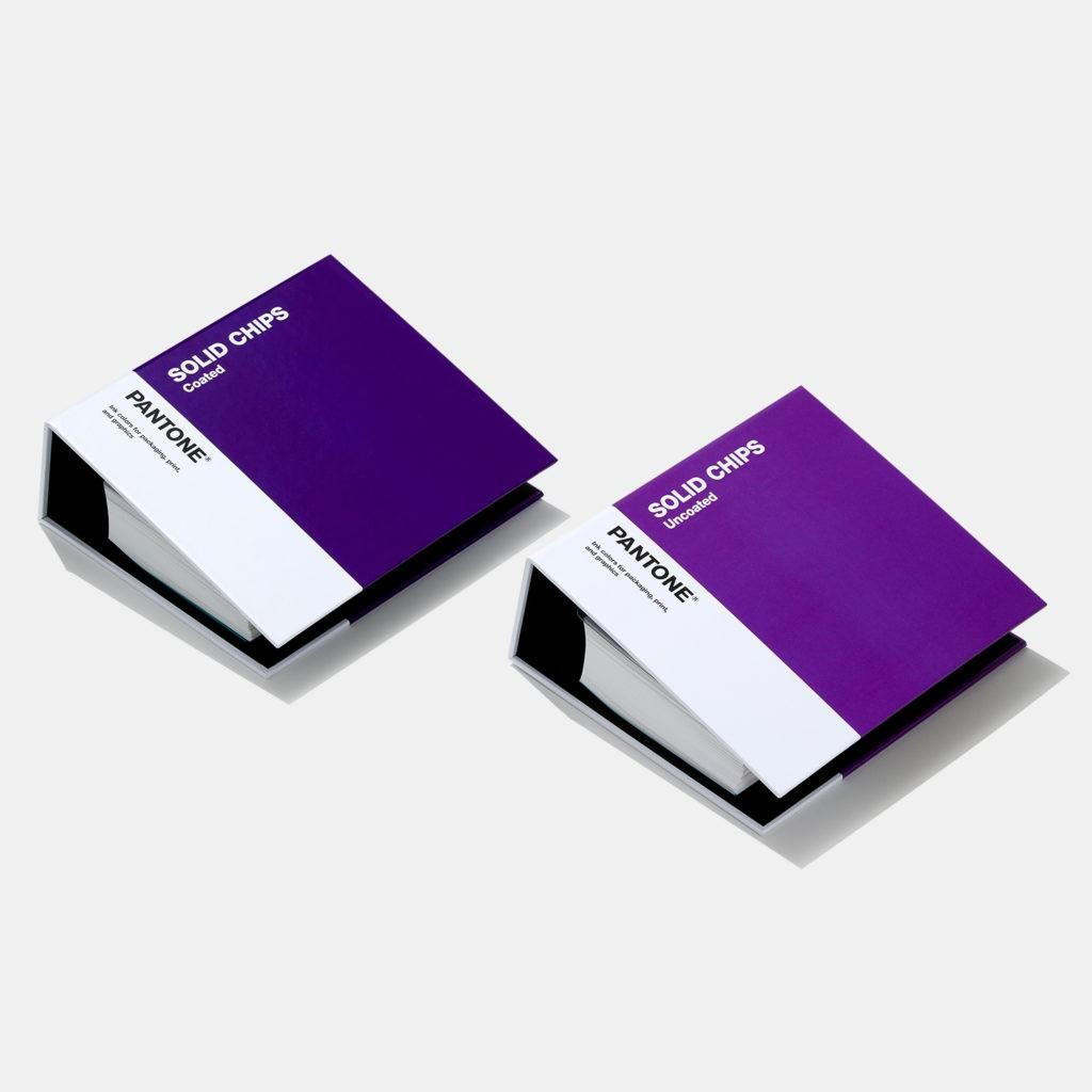 Набор книг с отрывными образцами Solid Chips Coated & Uncoated